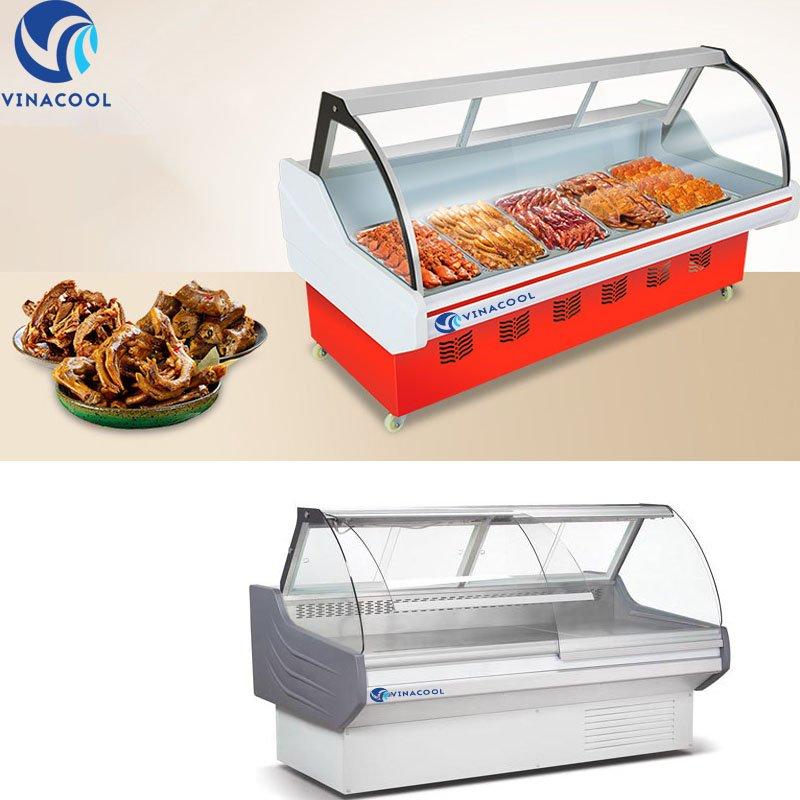 tủ trưng bày thịt cá
