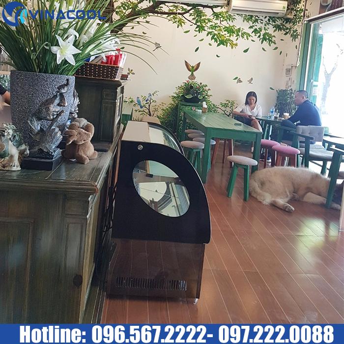 tủ bánh mini để bàn TLS90 quán cafe