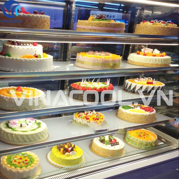 tủ kính trưng bày bánh ngọt Vinacool