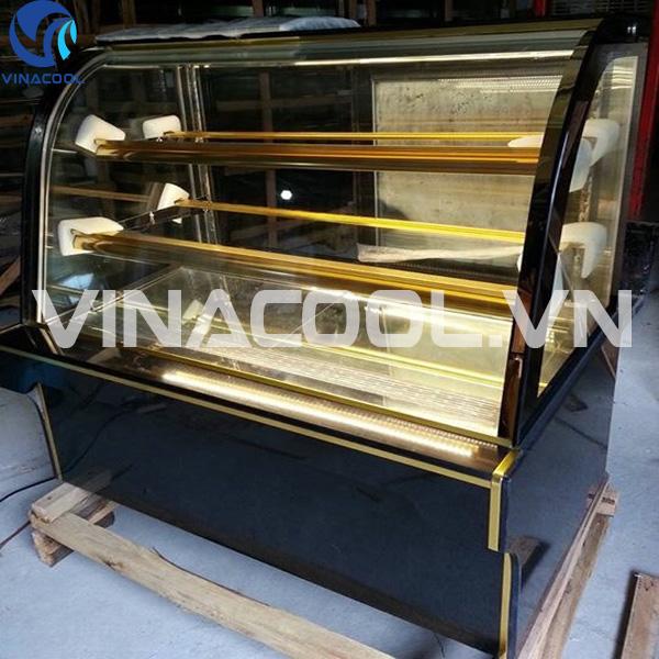 tủ trưng bày bánh kem kính cong vinacool hàng nhập khẩu