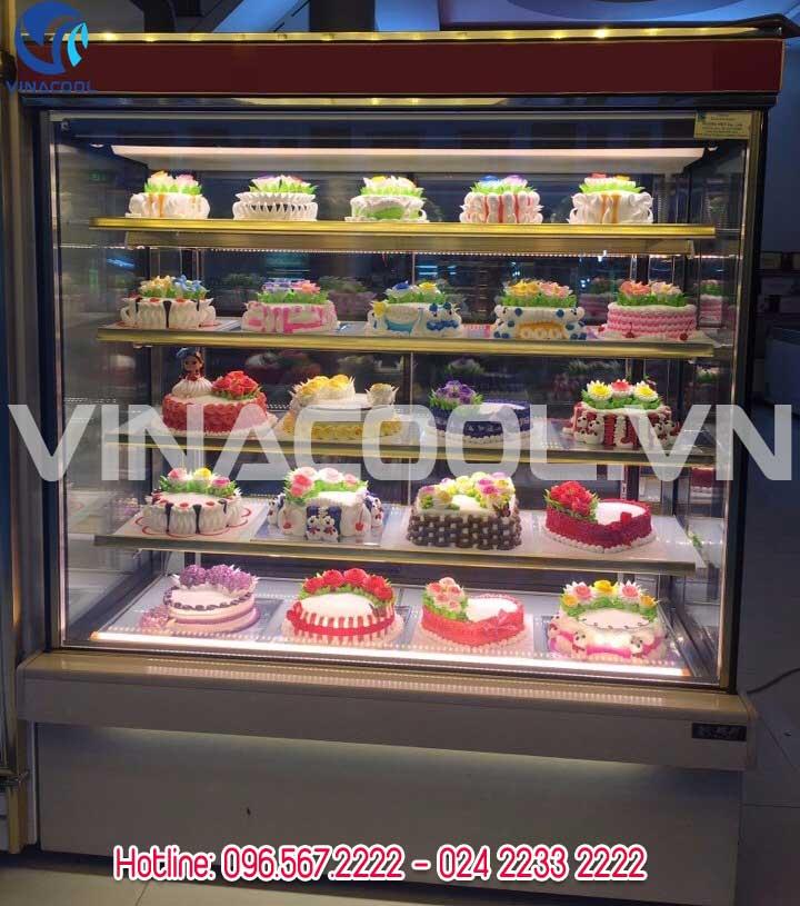 Tủ trưng bày bánh kem kính đứng 5 tầng Vinacool