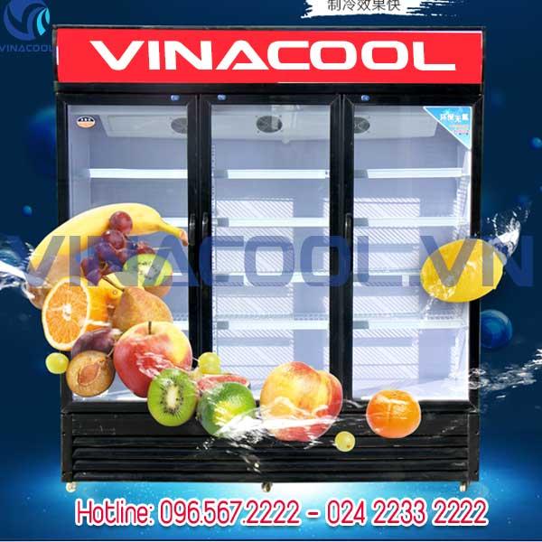tủ đông lạnh thực phẩm Vinacool 3 cánh kính SLD-1480F