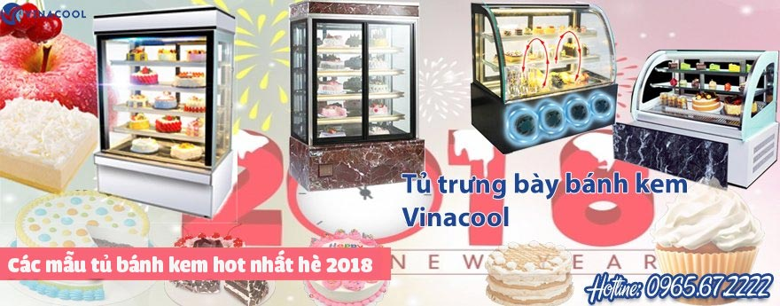 banner tủ trưng bày bánh kem vinacool