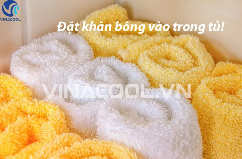 Khử mùi cho tủ trưng bày thực phẩm bằng khăn bông