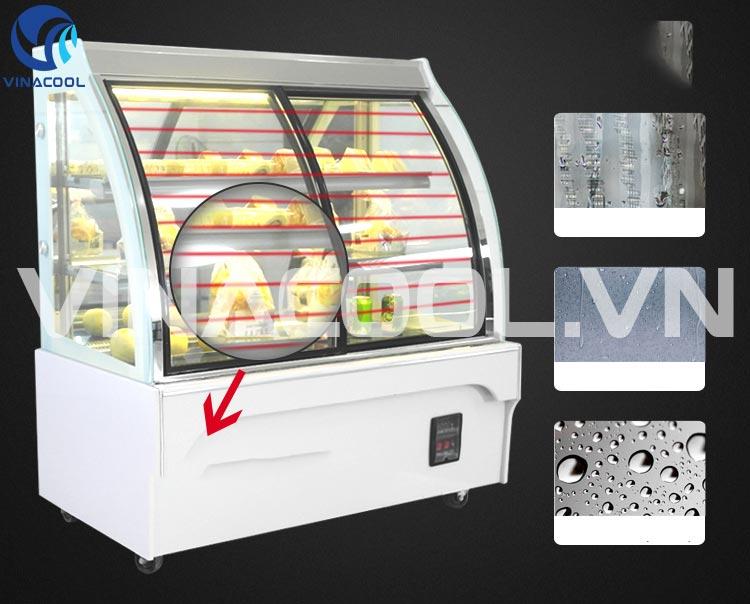 dùng phun ẩm tủ trưng bày bánh kem như thế nào?