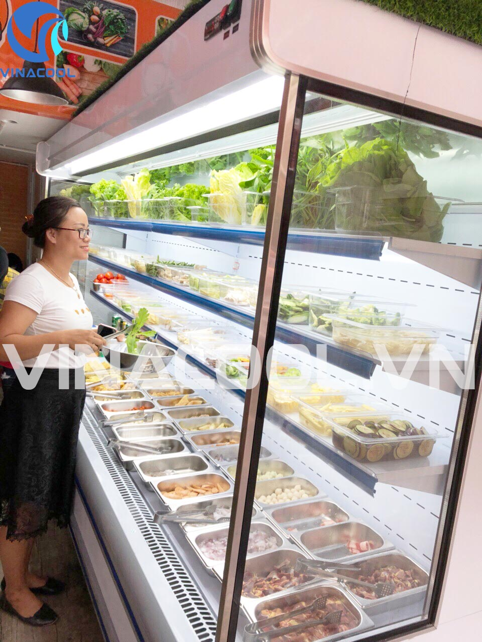 Phân biệt các loại tủ mát trưng bày siêu thị