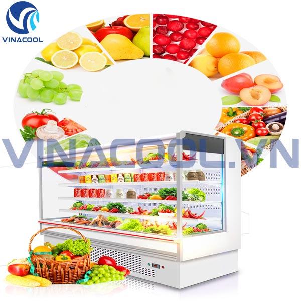 tủ mát trưng bày hoa quả siêu thị