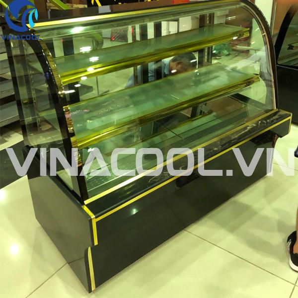 tủ trưng bày bánh kem kính cong 3 tầng giá rẻ