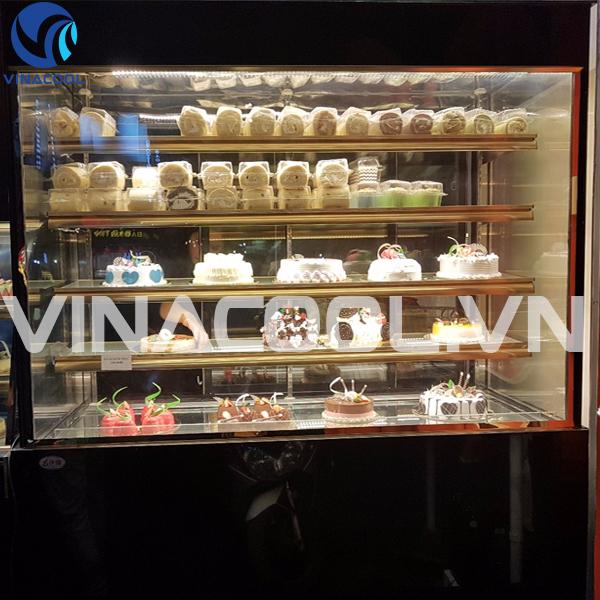 tủ trưng bày bánh kem kính đứng 5 tầng