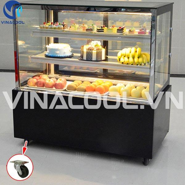Tủ mát trưng bày bánh ngọt kính vuông Vinacool