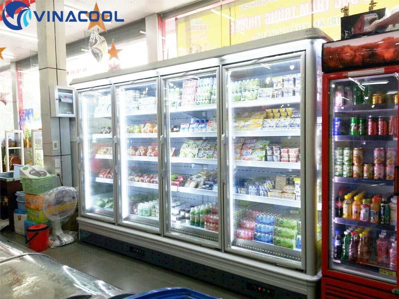 cách tiết kiệm điện cho tủ mát siêu thị
