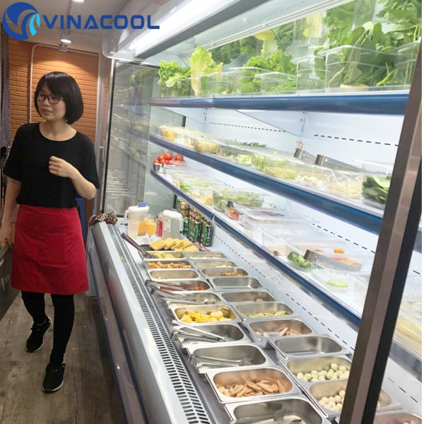 tủ trưng bày thực phẩm ở TP.HCM