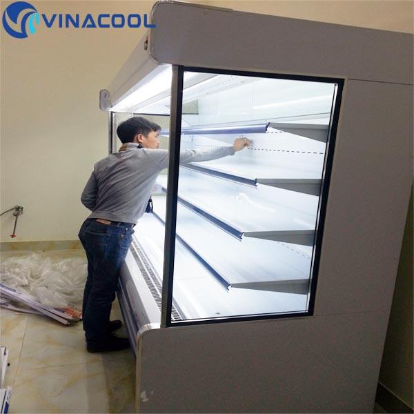 lắp đặt tủ mát cho siêu thị tại Tp.HCM