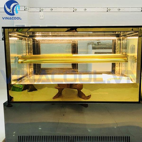 Tủ trưng bày bánh kem để bàn kính vuông vinacool