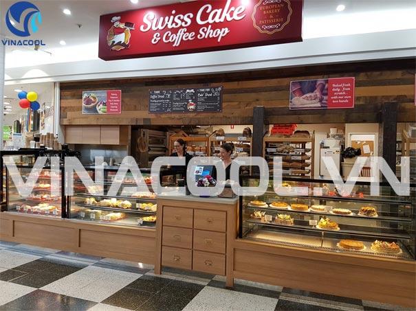 tủ trưng bày bánh loại nhỏ 90 cm cho quán cafe
