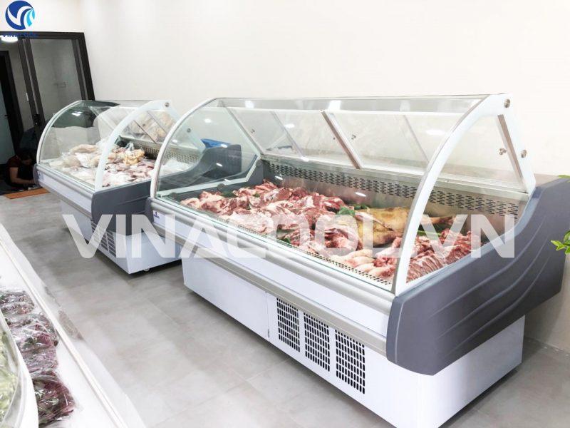 tủ bảo quản thịt tươi sống trong siêu thị