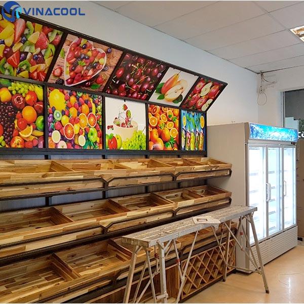 Tủ mát trưng bày trái cây 3 cánh kính