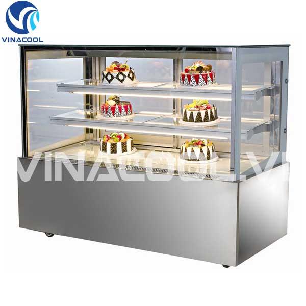 tủ trưng bày bánh gato kính vuông vinacool