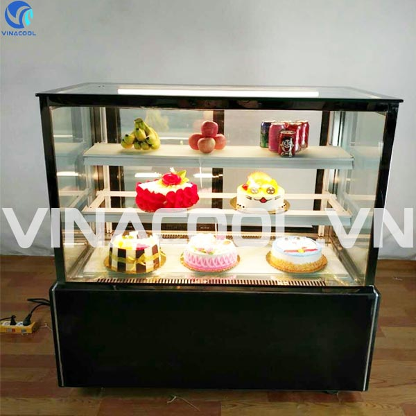 tủ trưng bày bánh kem kính vuông vinacool