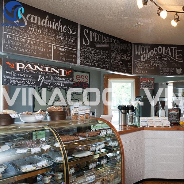 tủ trưng bày bánh kem cho quán cafe