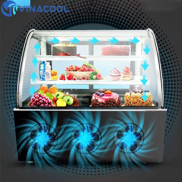 hệ thống làm lạnh củ tủ trưng bày bánh kem hà nội
