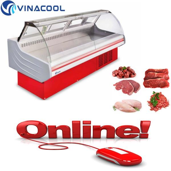 mua tủ trưng bày thịt cá online