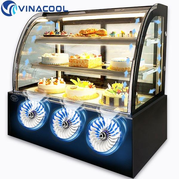 tủ bánh kem Vinacool không gây tiếng ồn khi hoạt động