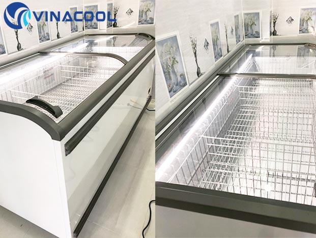 tủ đông lạnh siêu thị Vinacool