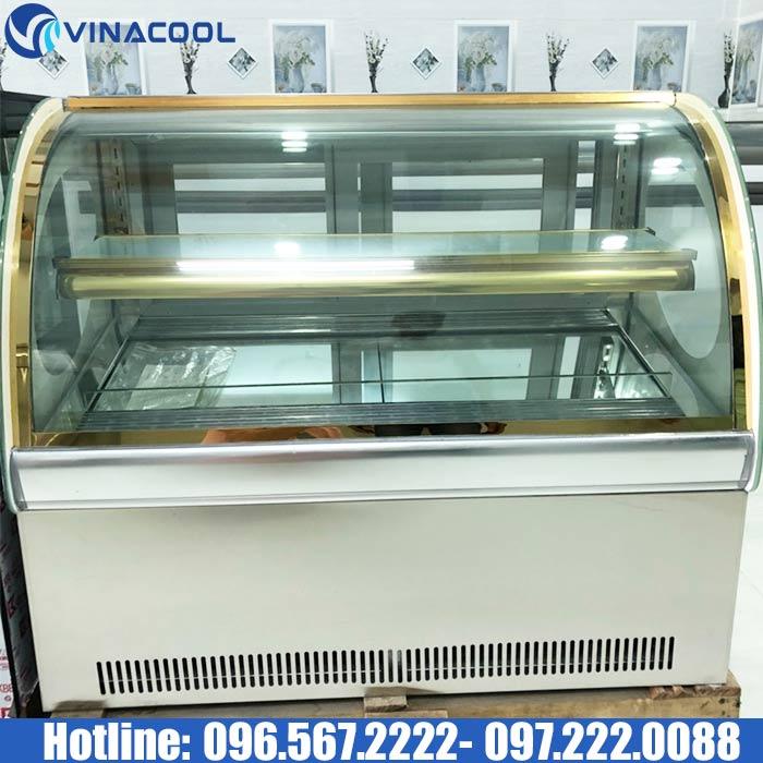 tủ trưng bày bánh kem để bàn tls90 trắng