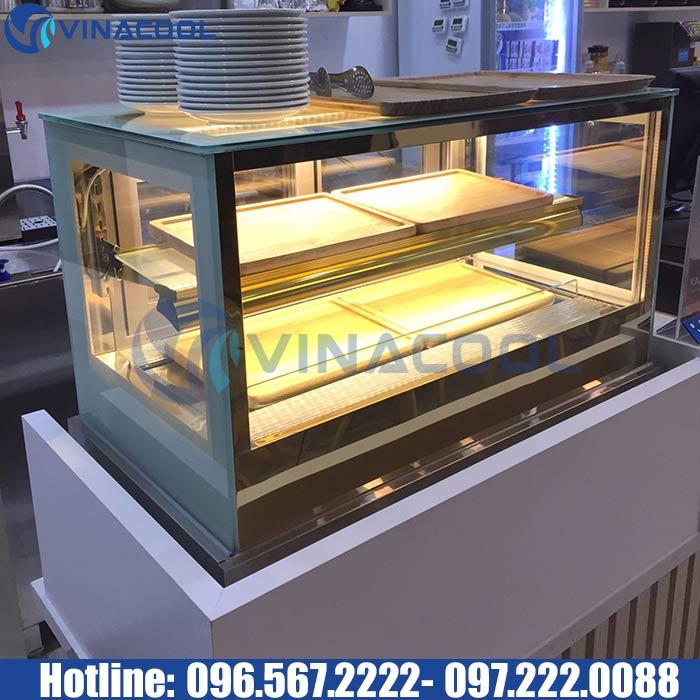Tủ trưng bày bánh mini kính vuông Vinacool