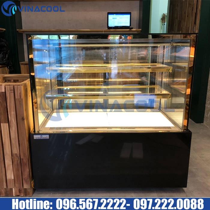 tủ bánh ngọt 3 tầng kính vuông Vinacool