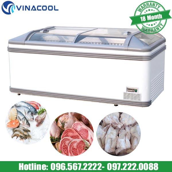 tủ đông siêu thị Vinacool