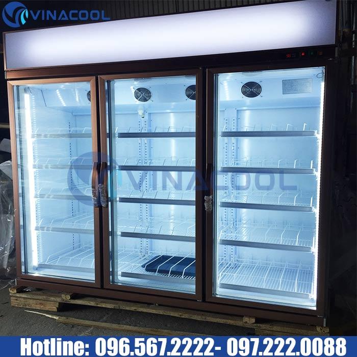 tủ mát 3 cánh kính vinacool SLG-1800FS