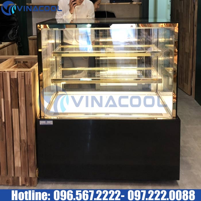 tủ trưng bày bánh kính vuông vinacool dza-1000