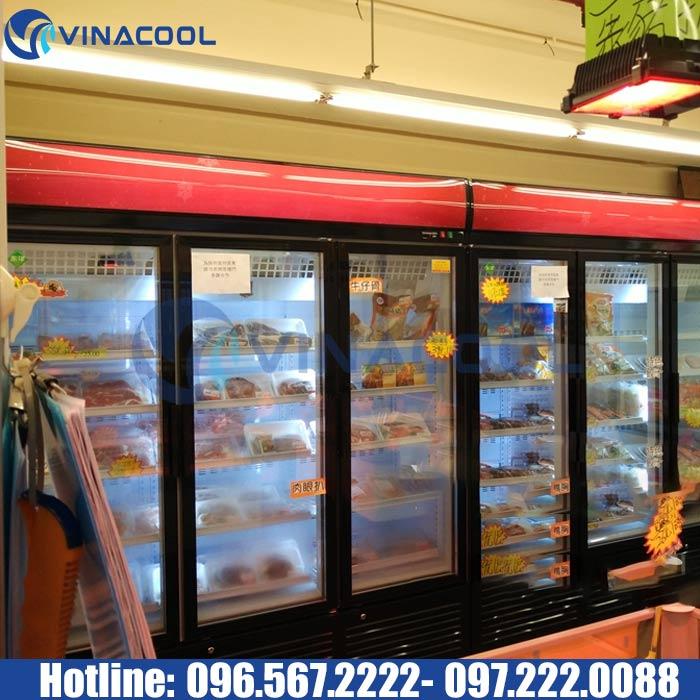 tủ đông siêu thị 3 cánh kính