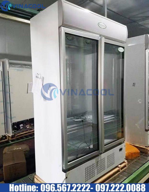 tủ mát 2 cánh kính Vinacool LG-1000M2/w