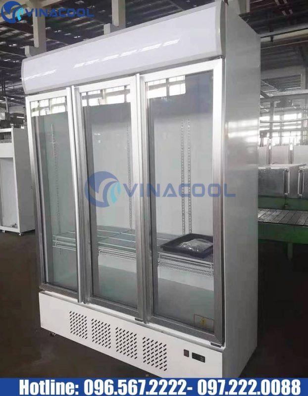 tủ mát trưng bày 3 cánh kính vinacool LG-1200M3/w