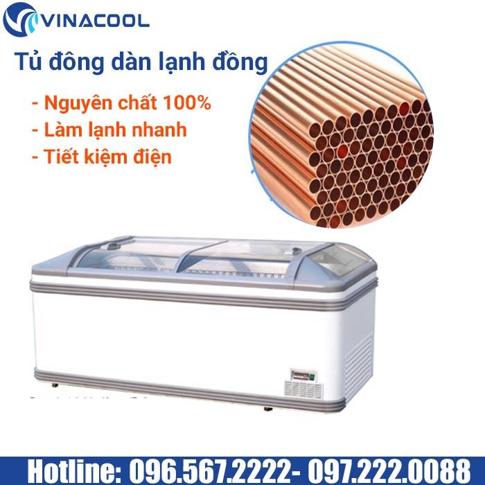 tủ đông lạnh dàn đồng nguyên chất