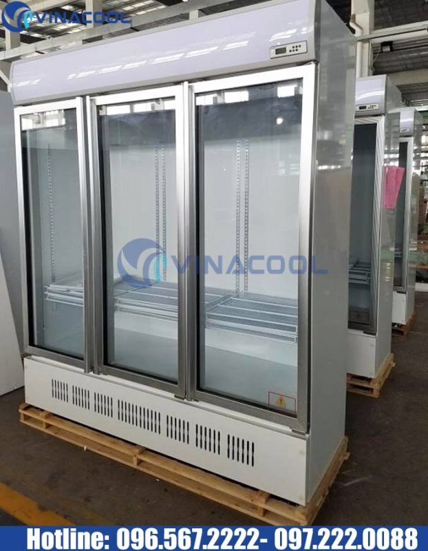 tủ mát 3 cánh kính vinacool LG-1200M3/w