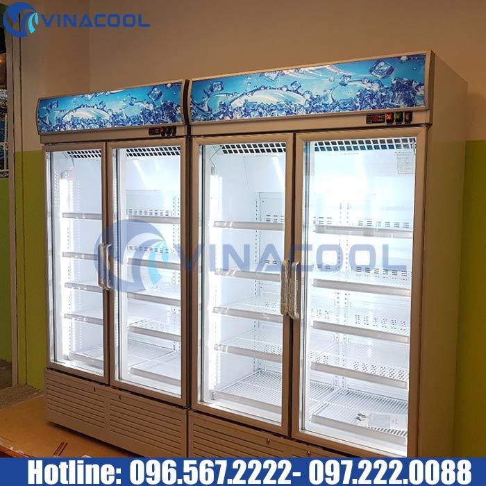 tủ bánh kem 5 tầng 2 cánh kính Vinacool