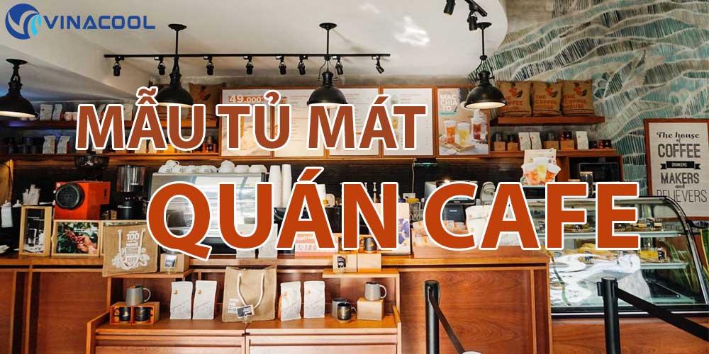 banner tủ mát quán cafe