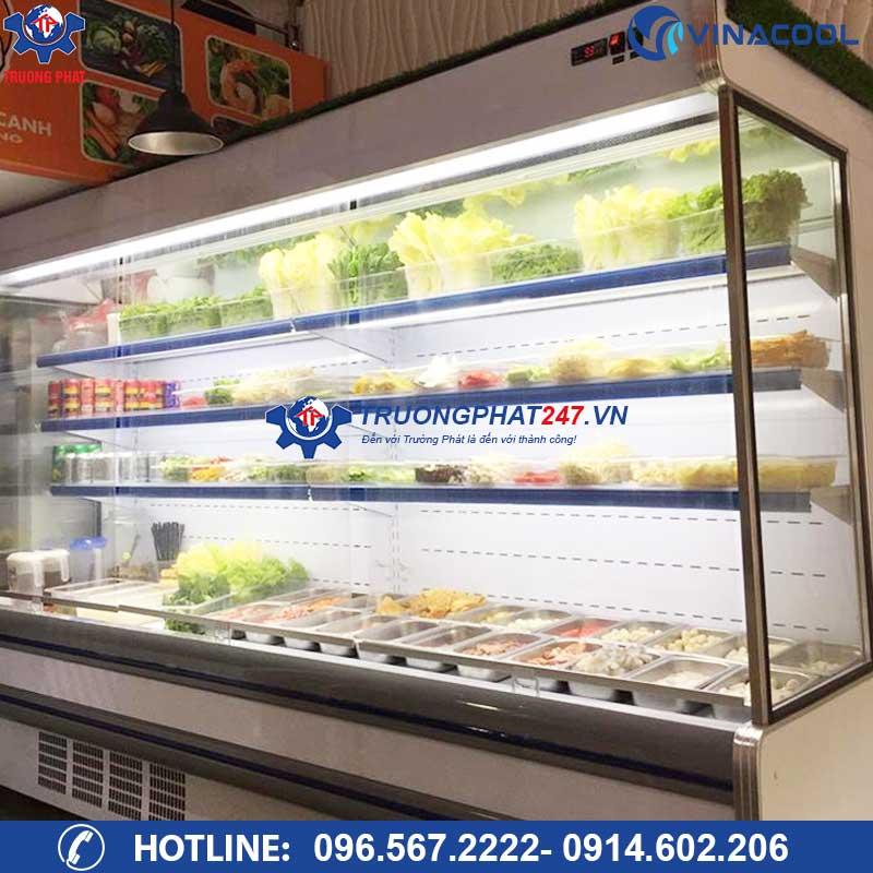 tủ mát trưng bày thực phẩm nhà hàng Vinacool