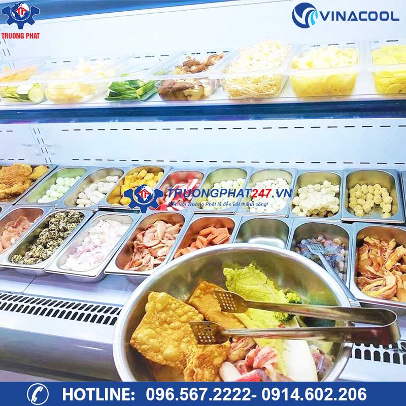 tủ mát trưng bày thức ăn tự chọn