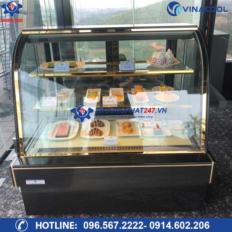 tủ bảo quản bánh kem kính cong 3 tầng
