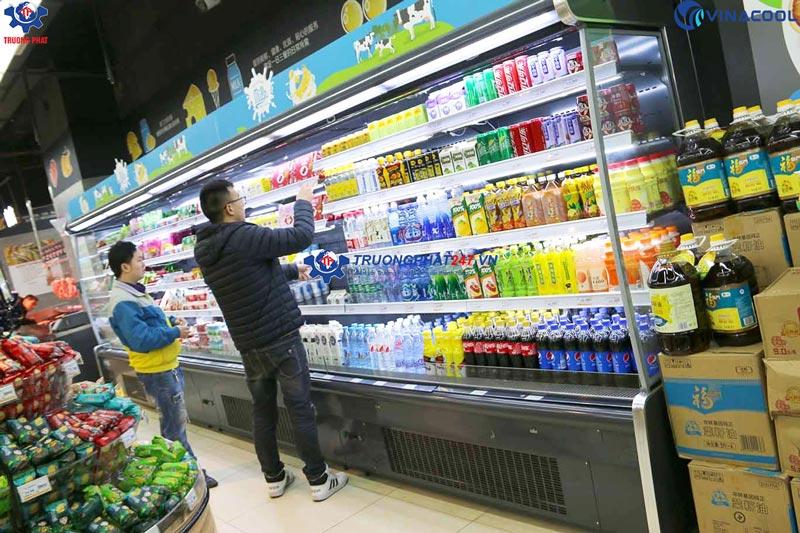 tủ trưng bày rau quả không cửa