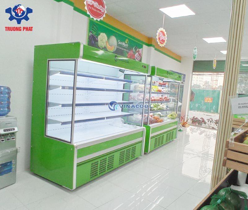 tủ trưng bày rau quả siêu thị xanh