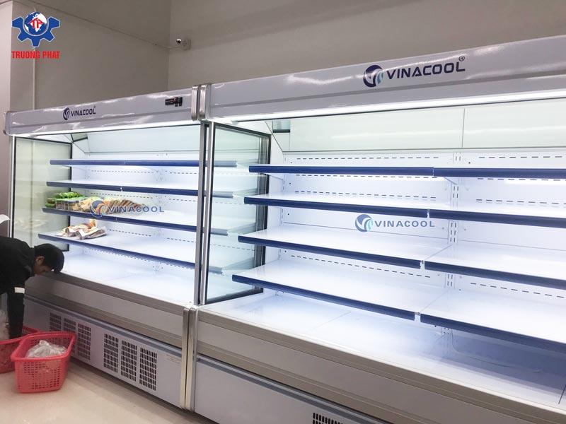tủ siêu thị không cửa 2m5