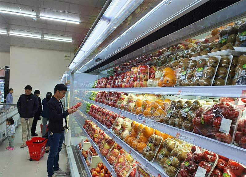 tủ mát trưng bày trái cây nhập khẩu