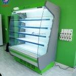 tủ trưng bày thực phẩm siêu thị 1m5 xanh