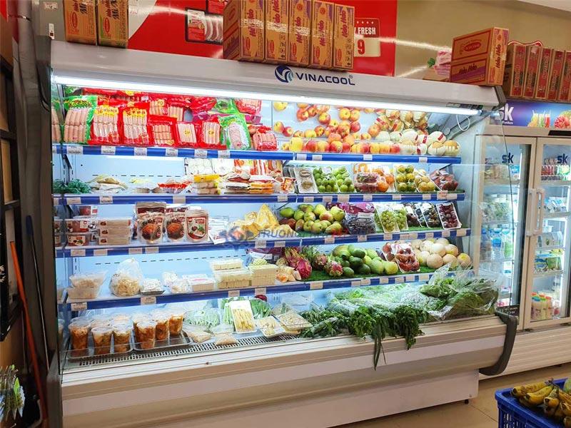 tủ rau củ siêu thị 2m5 vinacool